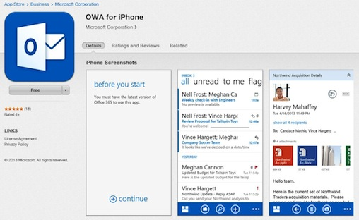 outlook 365 iphone microsoft takes outlook web app on iphone 12751
