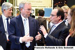 Francois Hollande & Eric Schmidt