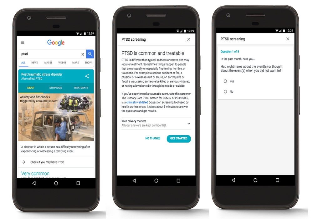 Google Partners with VA, National Alliance on Mental Illness to offer PTSD screening