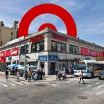 Target signs for Washington Heights store